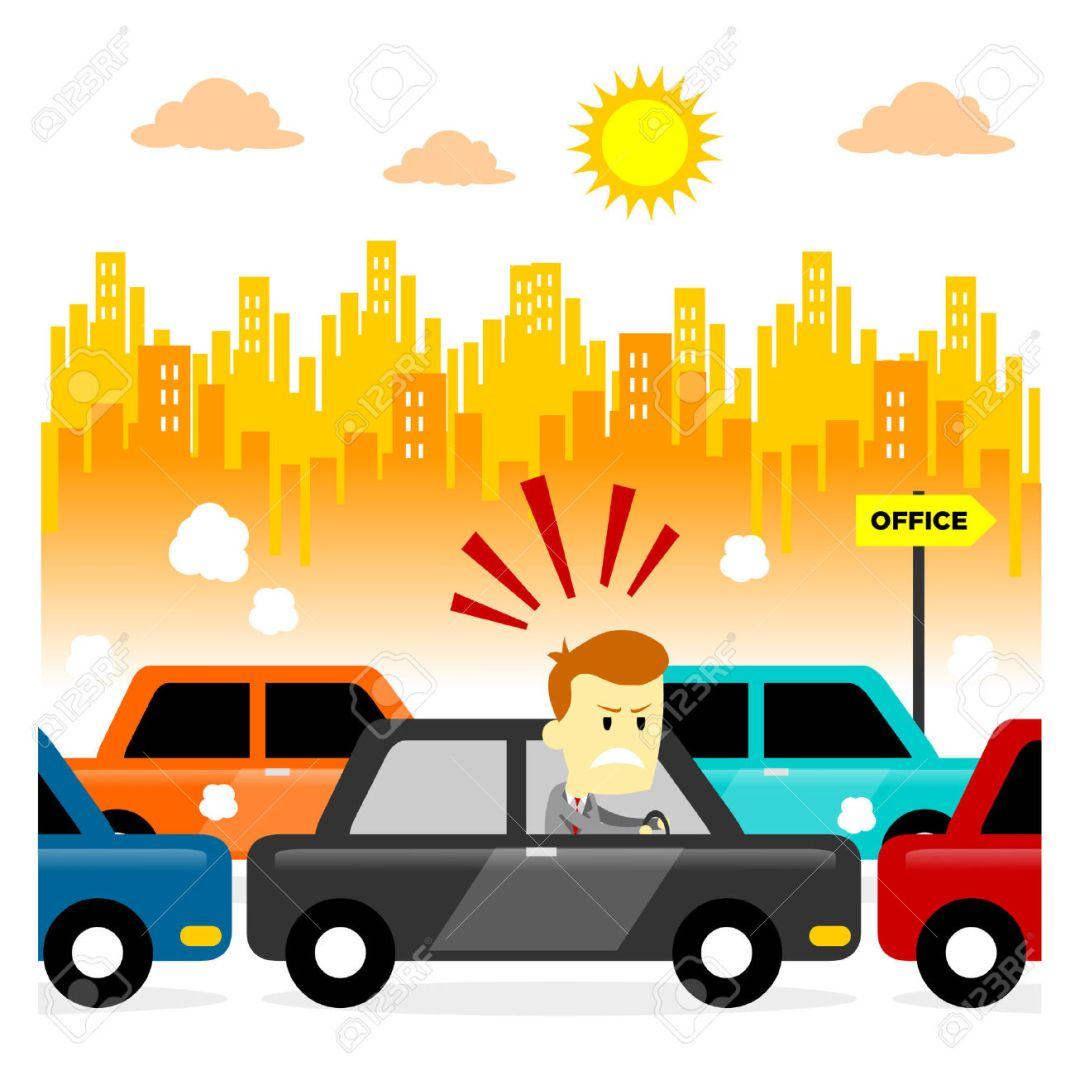 32144555-man-feeling-stressed-getting-stuck-in-a-morning-traffic-jam-in-flat-cartoon-style-stock-vector